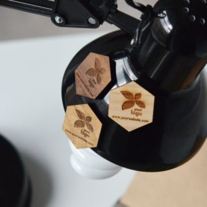 hexagonal custom wooden magnets