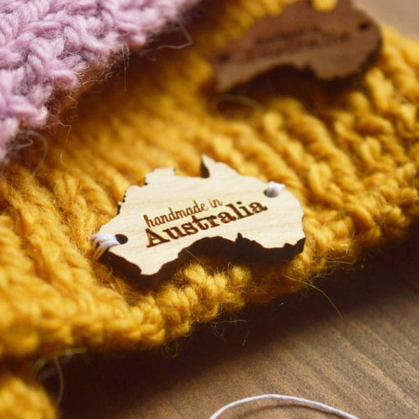 custom wood tag australia