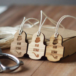 victorian design wooden swing tags