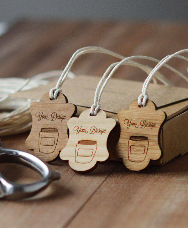 picture frame design wooden swing tags