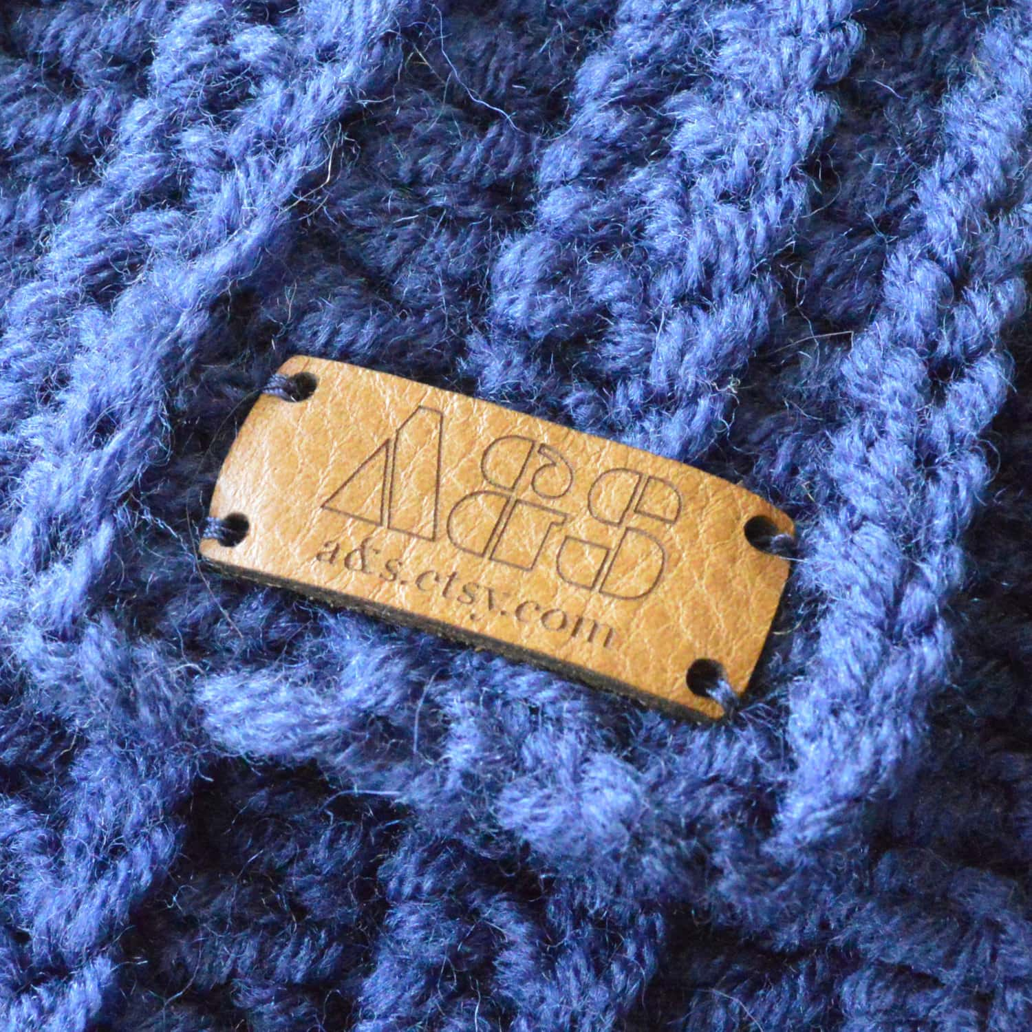This is a graphic of Geeky Personalised Knitting Labels Uk