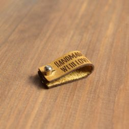 Tan Leather Rivet Tags