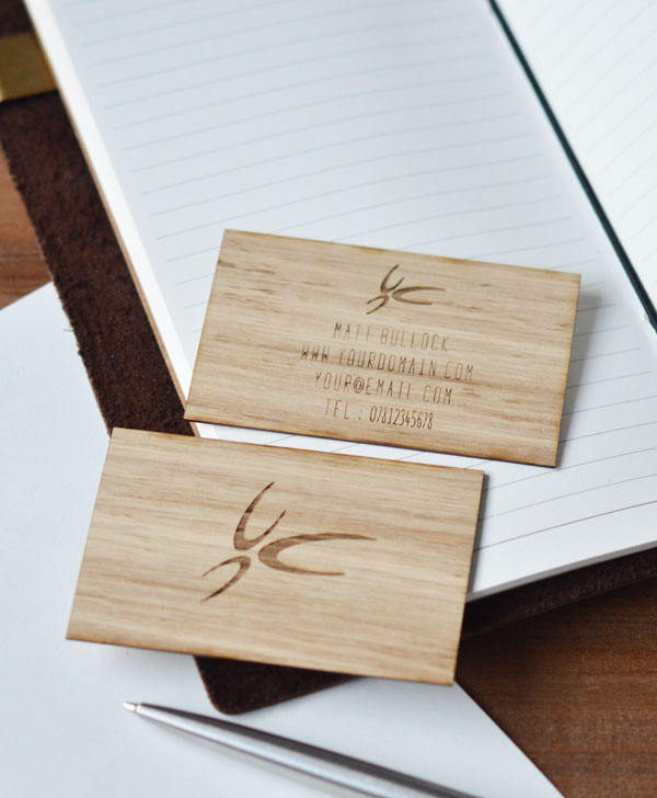 oak business cards