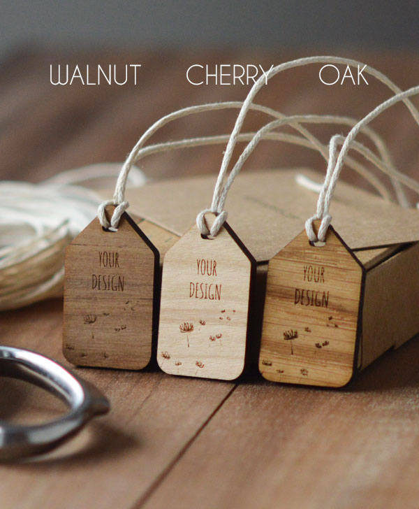 wooden personalised swing tag