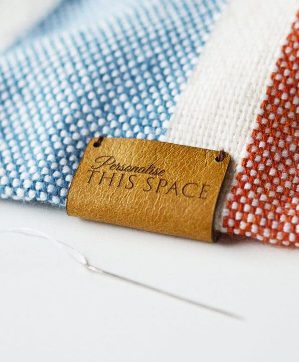 Personalized leather labels