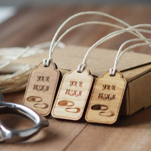 arch top design wooden swing tags