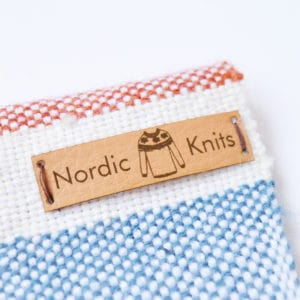 personalised faux leather labels