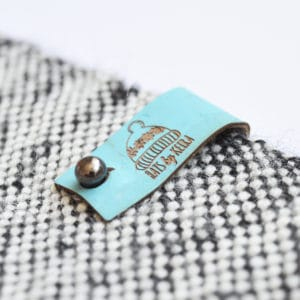 no sew cork tags aqua blue