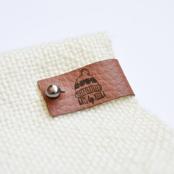 no sew faux leather tags chocolate brown
