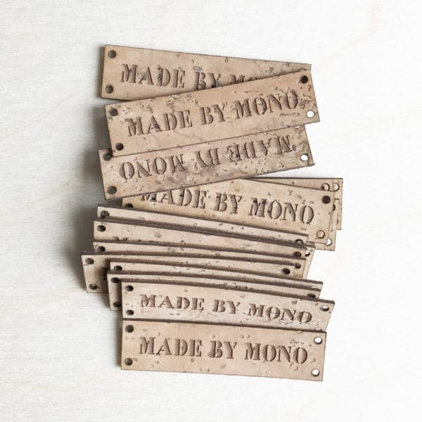 cork leather tags natural
