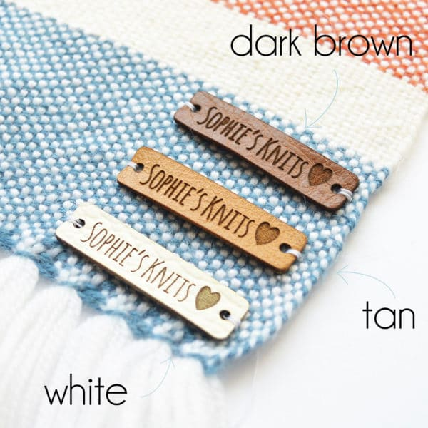 personalised leather tags