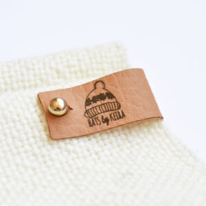 Fudge Faux Leather Rivet Tag
