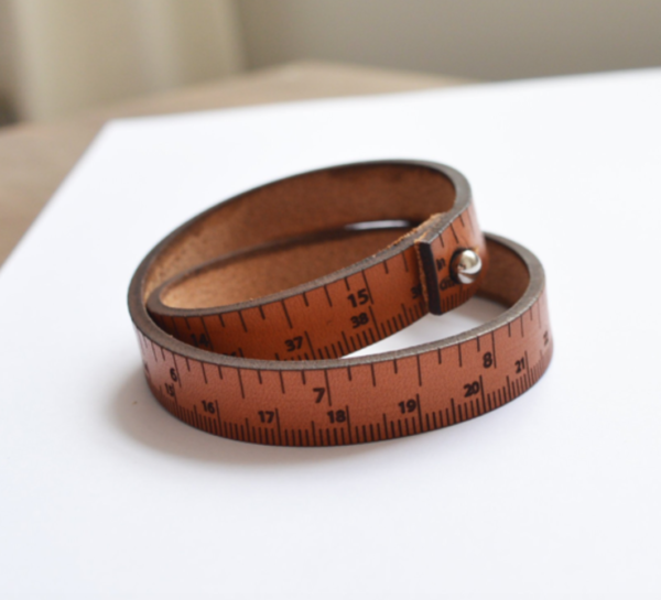 leather bracelet measure ruler